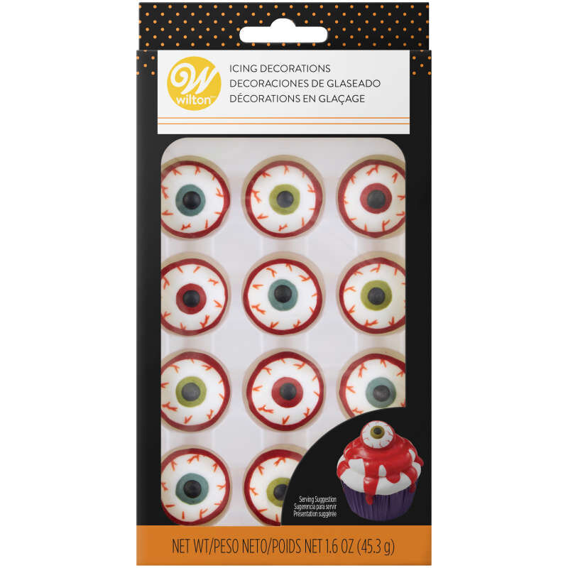 Bloody Eyeball Icing Decorations, 12-Count image number 2