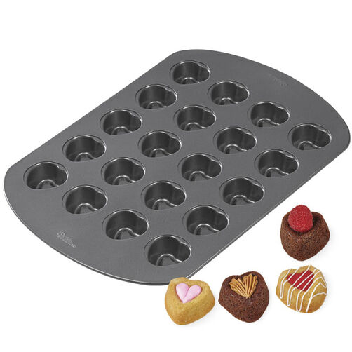20-Cavity Mini Heart Dessert Shell Pan