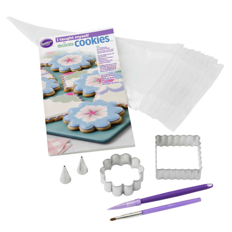 """""""I Taught Myself To Decorate Cookies"""" Cookie Decorating Book Set - How To Decorate Cookies image number 0"""