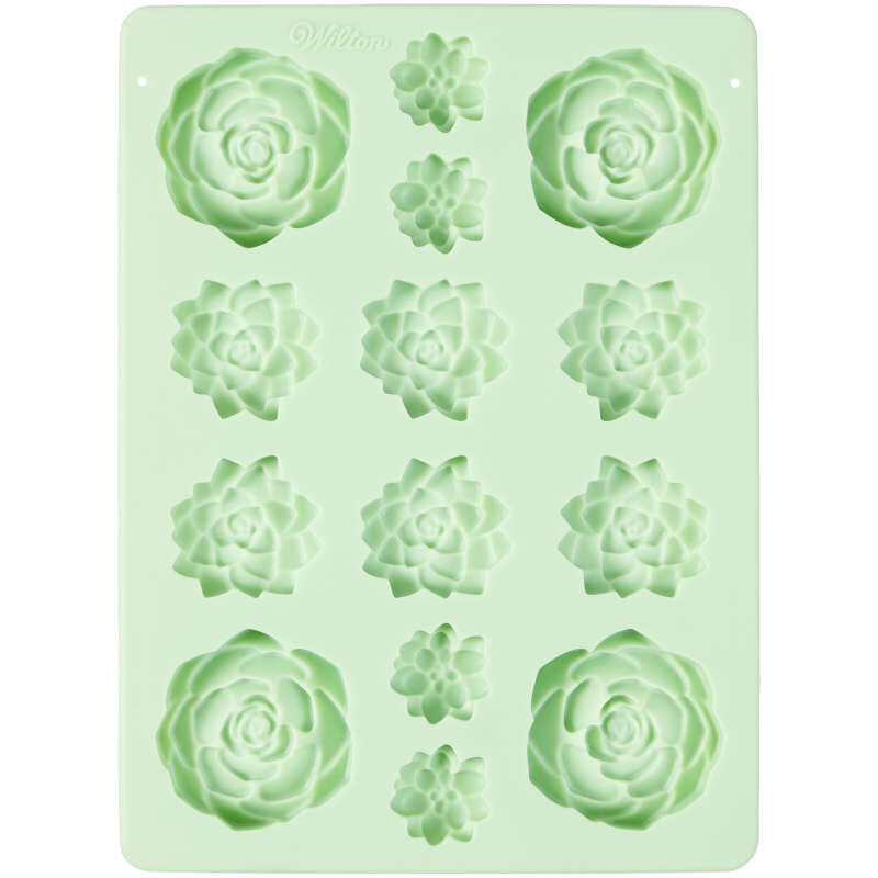 Succulents Silicone Candy Mold, 14-Cavity image number 0
