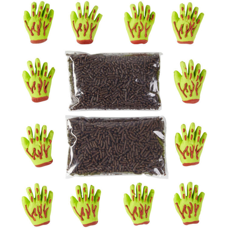 Zombie Hand Decorating Kit, 12-Count