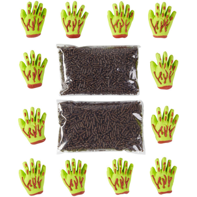 Zombie Hand Decorating Kit, 12-Count image number 0