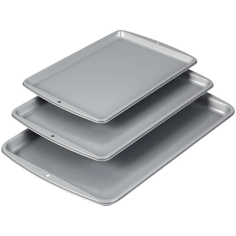 Recipe Right Non-Stick Cookie Sheet Set, 3-Piece image number 3