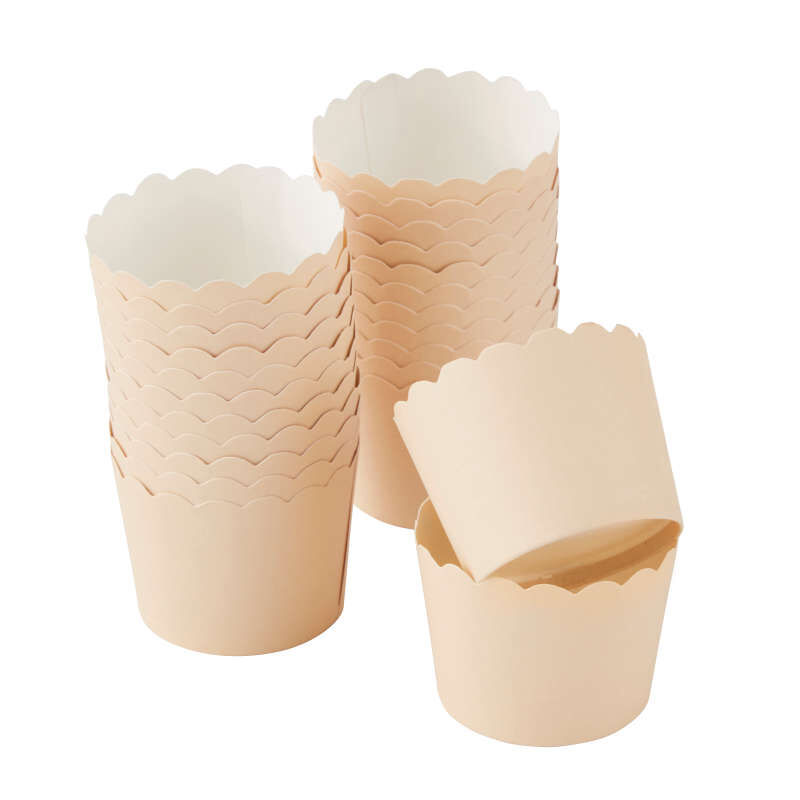 Scalloped Kraft Cupcake Liners, 24-Count image number 0