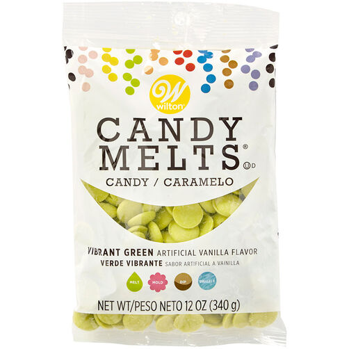 Vibrant Green Candy Melts Candy, 12 oz.