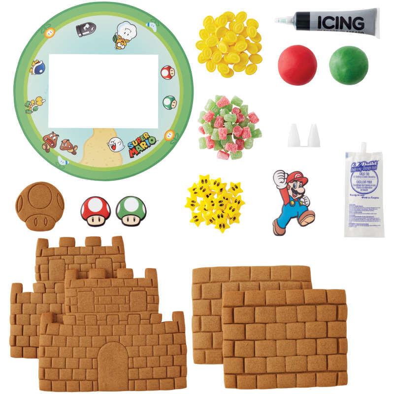 Build it Yourself Super Mario Gingerbread Castle Decorating Kit image number 2