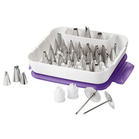 Master Cake Decorating Tips Set, 55-Piece Cake Decorating Supply Set