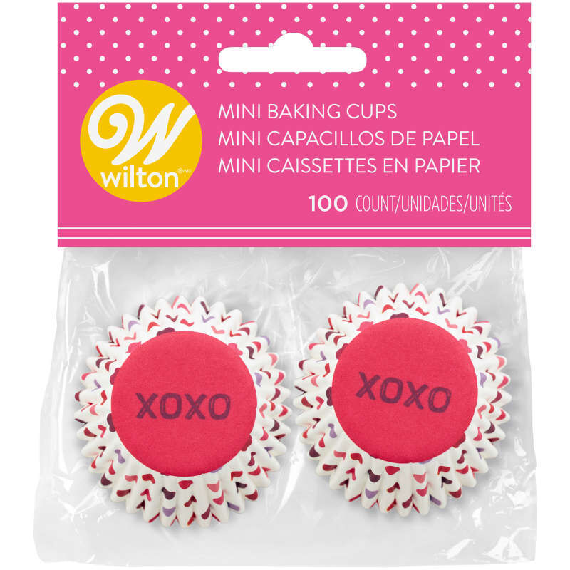 XOXO Mini Cupcake Liners, 100-Count image number 1