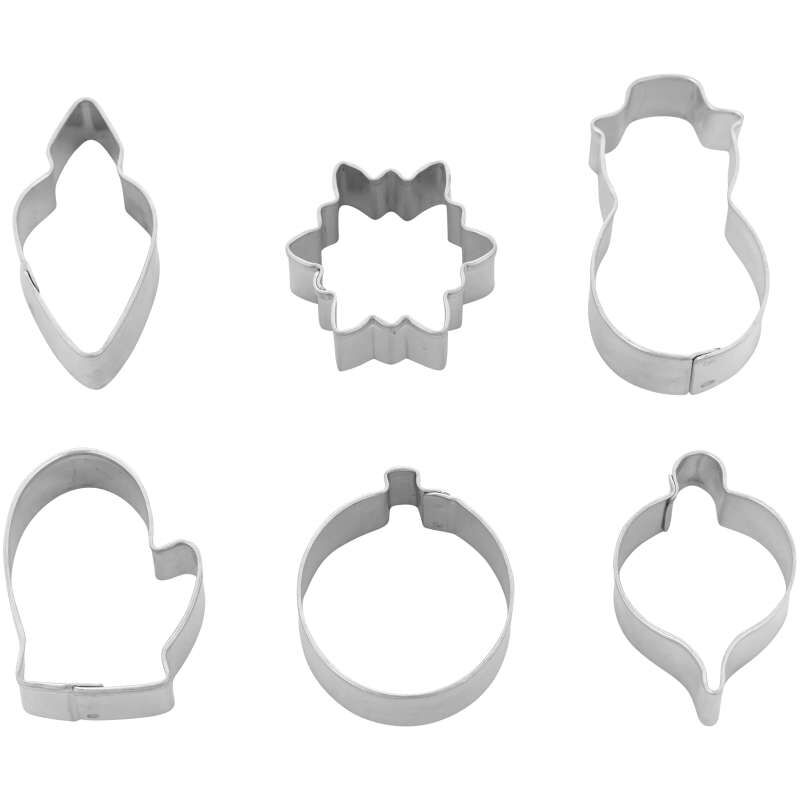 Mini Christmas Cookie Cutter Set, 6-Piece image number 0