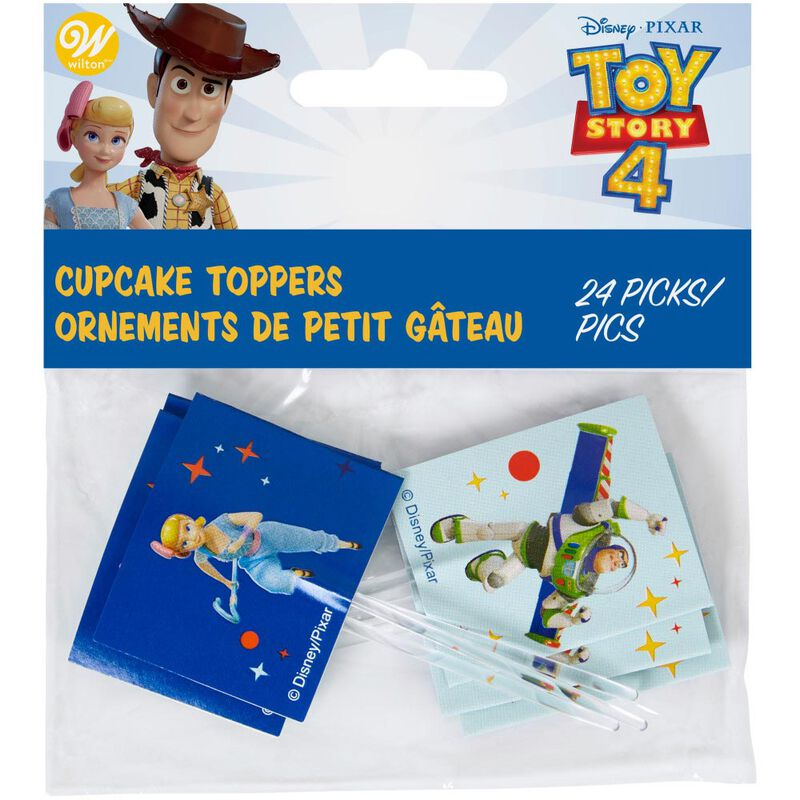 Disney Pixar Toy Story 4 Cupcake Toppers, 24-Count image number 1
