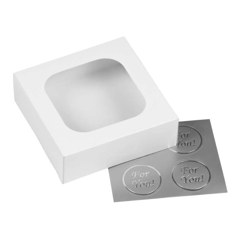 Small White Confectionary Boxes, 3-Count image number 0