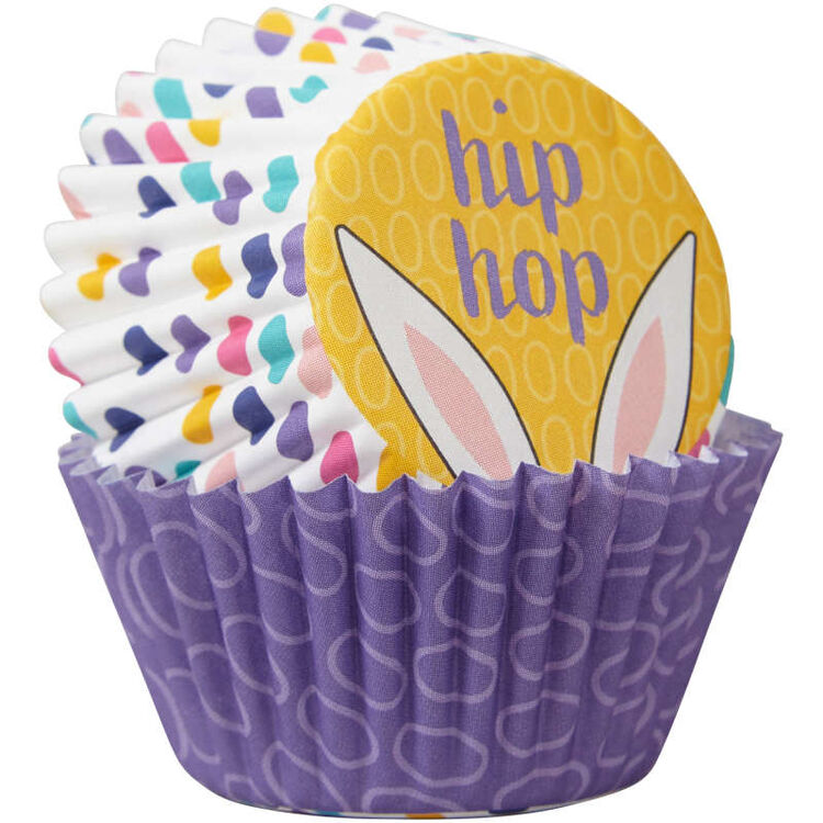 Easter Eggs and Hip Hop Mini Cupcake Liners, 100-Count