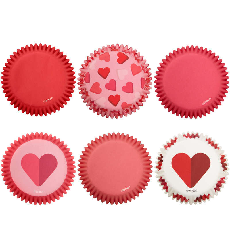 Valentine's Day Assorted Standard Cupcake Liners, 150-Count image number 1