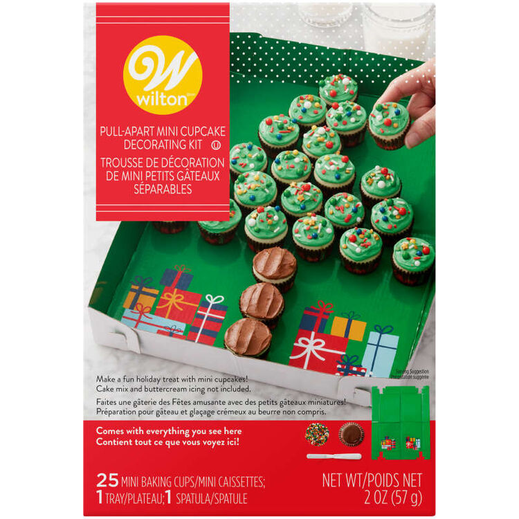 Christmas Tree Pull-Apart Mini Cupcake Decorating Kit, 2 oz.