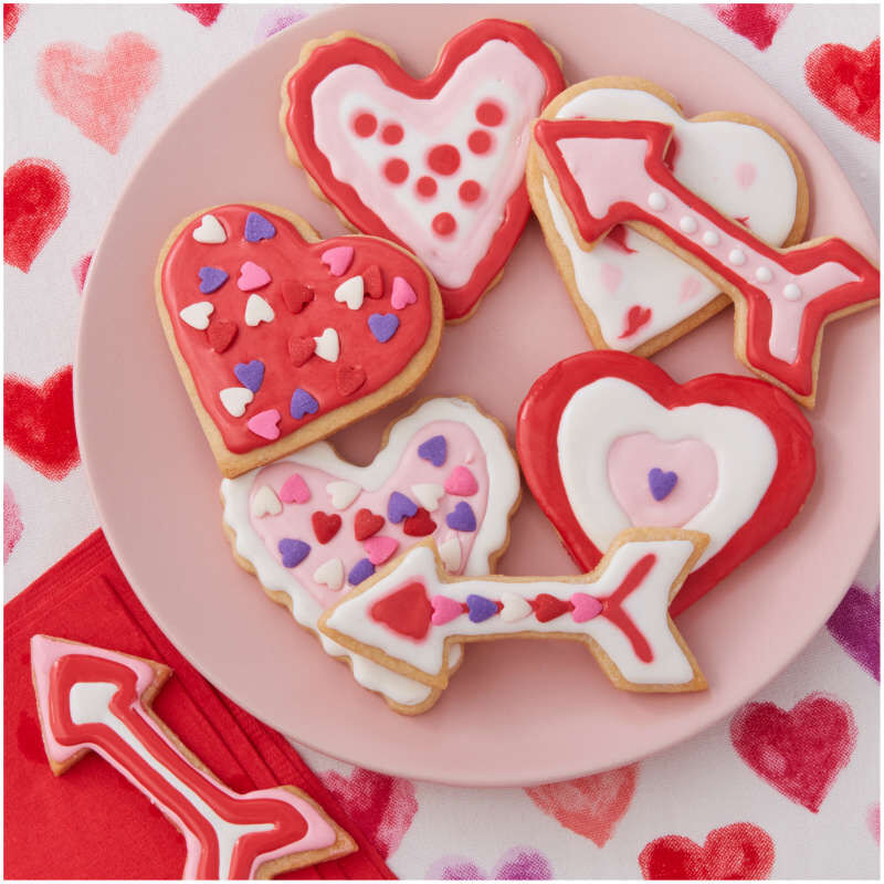 Valentine's Day Cookie Cutter and Decorating Set, 7-Piece image number 5