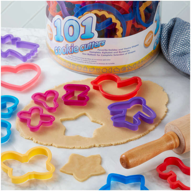 Alphabet, Numbers and Holiday Cookie Cutters Set, 101-Piece image number 2