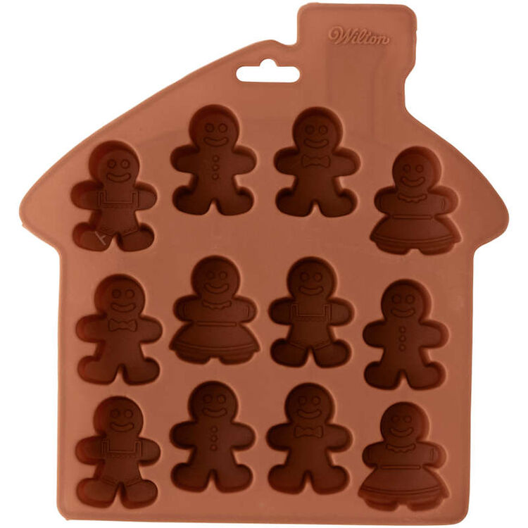 Silicone Gingerbread People Bite-Size Treat Mold, 12-Cavity