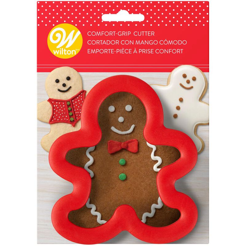 Large Gingerbread Man Comfort-Grip Cookie Cutter image number 1