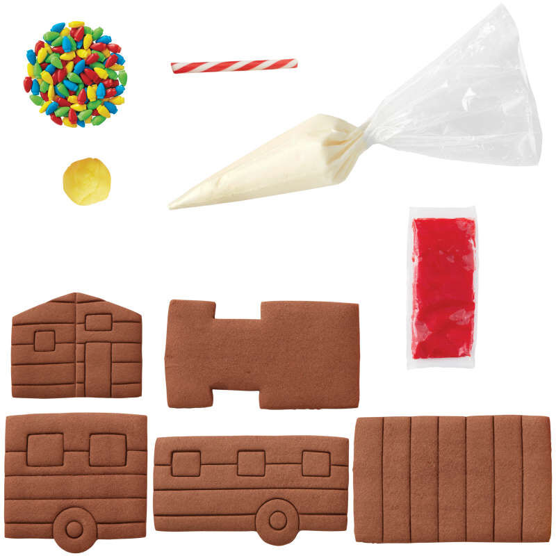 Build it Yourself Room to Grow Chocolate Cookie Tiny House Decorating Kit image number 2