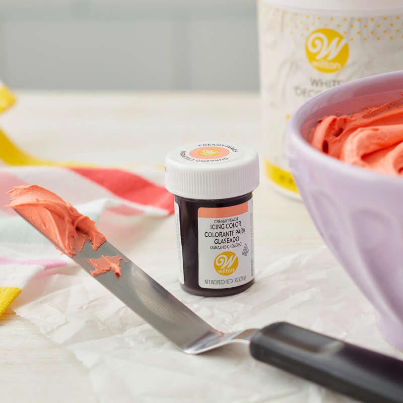 Creamy Peach Icing Color, 1 oz. image number 3