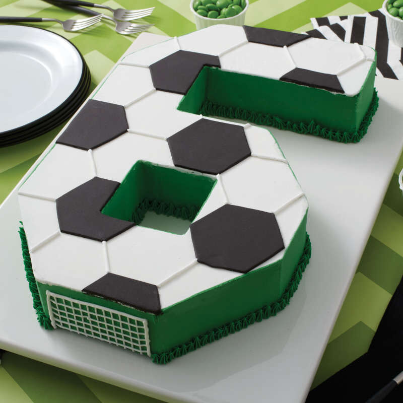6th Birthday Soccer Cake image number 6