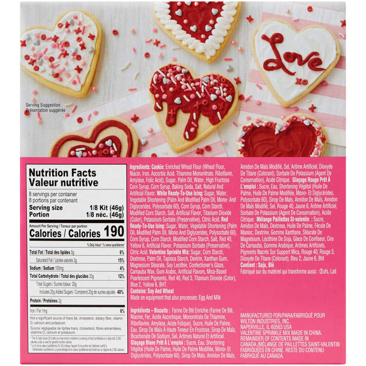Ready-to-Decorate Heart Cookie Kit