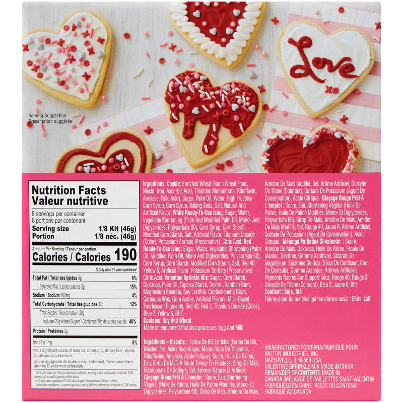 Ready-to-Decorate Heart Cookie Kit image number 1