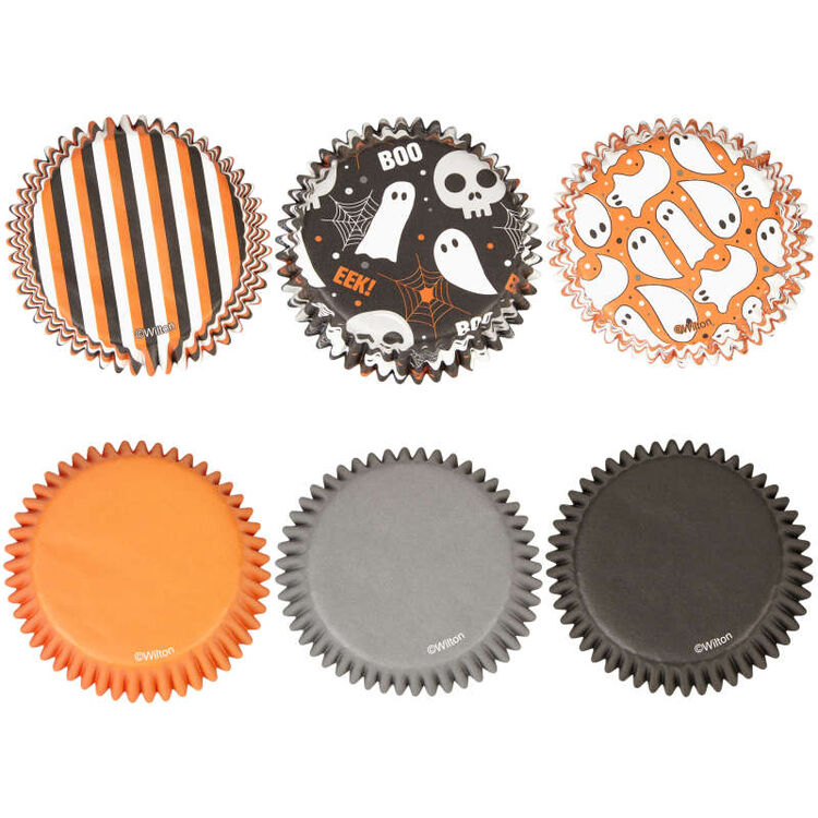 Halloween Ghost Assortment Cupcake Liners, 150-Count