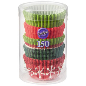 Holiday Red and Green Mini Cupcake Liners