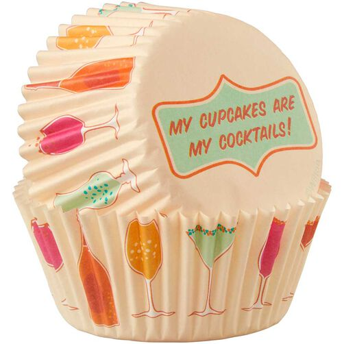 My Cupcakes are My Cocktails Cupcake Liners