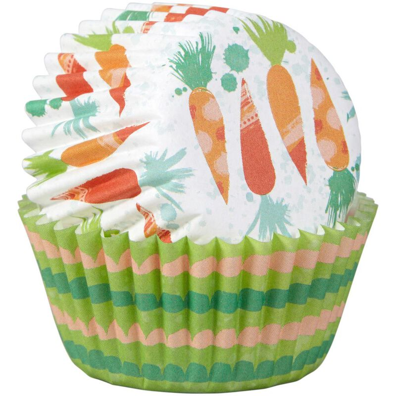 Bunny and Carrot Mini Cupcake Liners, 100-Count image number 3