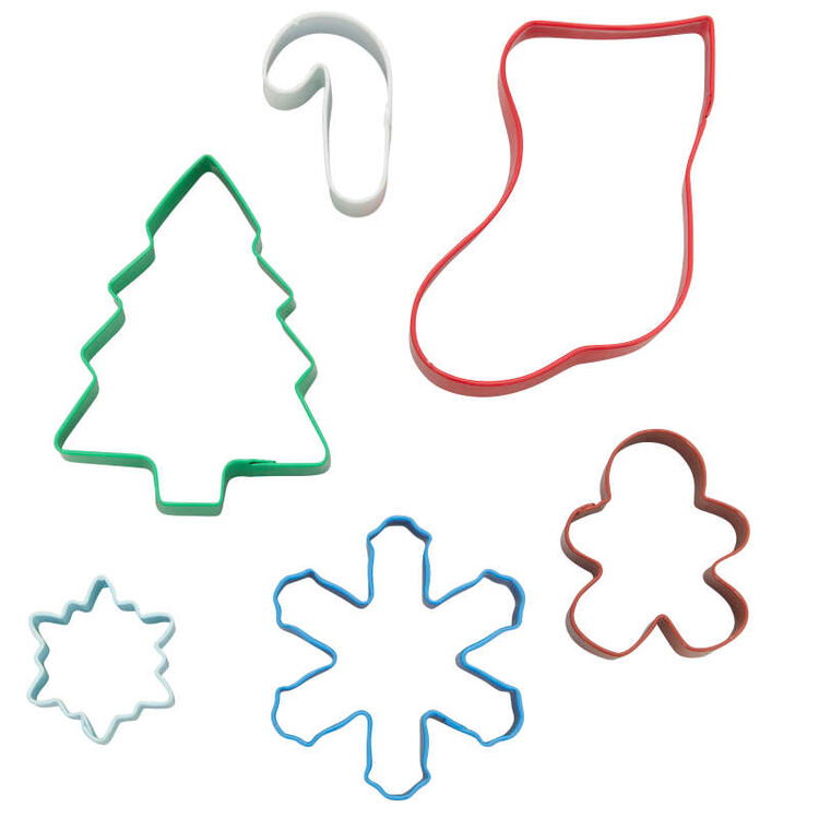 Christmas Cookie Cutter Set, 6-Piece
