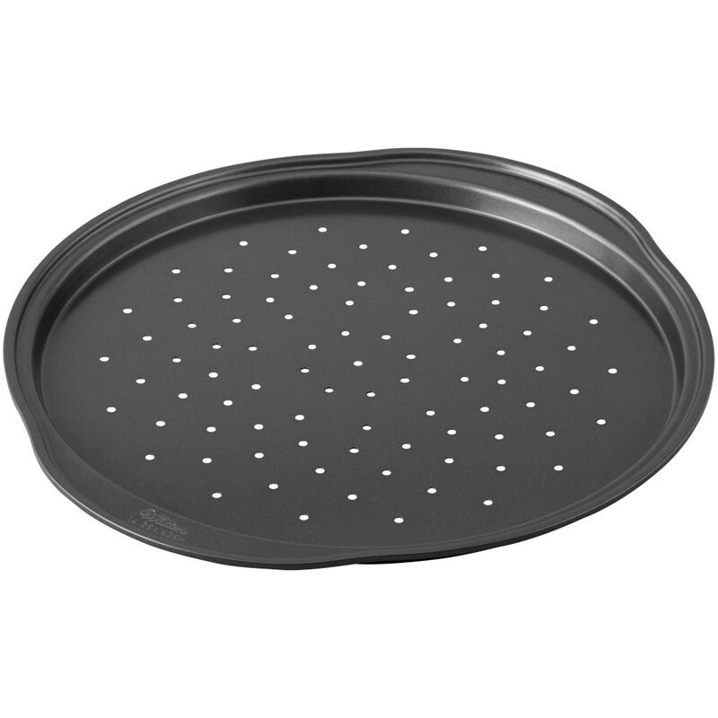 Perfect Results Non-Stick 14-Inch Pizza Pans with Holes, Multipack Set of 2 image number 2