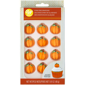 Pumpkin Icing Decorations, 12-Count