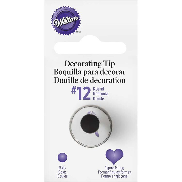 Round Cake Decorating Tip 12