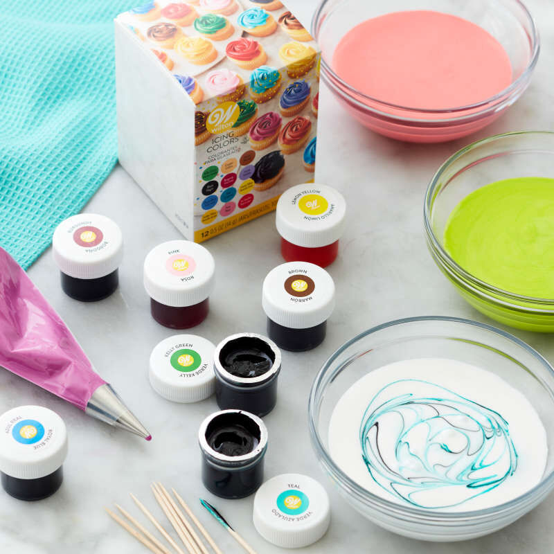 Icing Colors Gel Food Coloring, 12-Count image number 6
