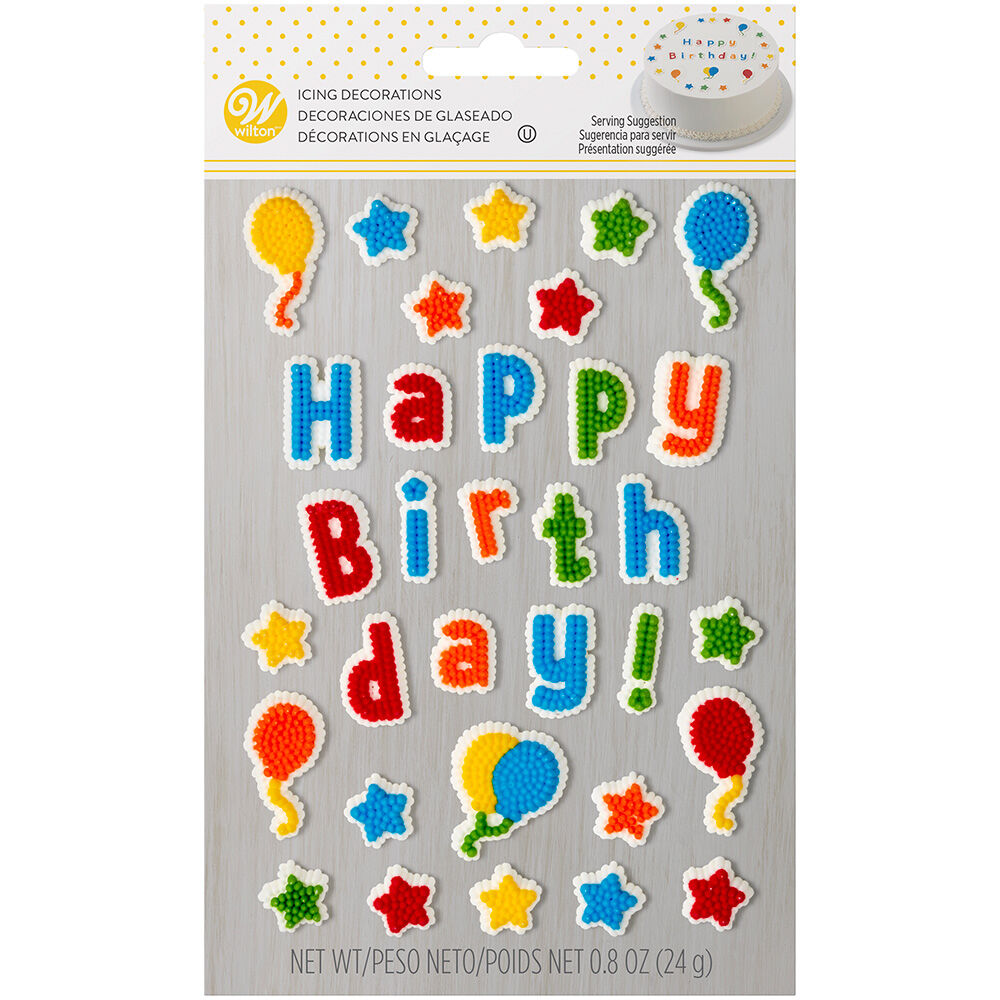 Edible Cake Topper Birthday Decorating Kit Zoom