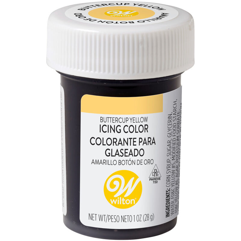 Buttercup Yellow Gel Food Coloring Icing Color image number 0