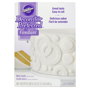 Decorator Preferred White Fondant, 24 oz. Fondant Icing