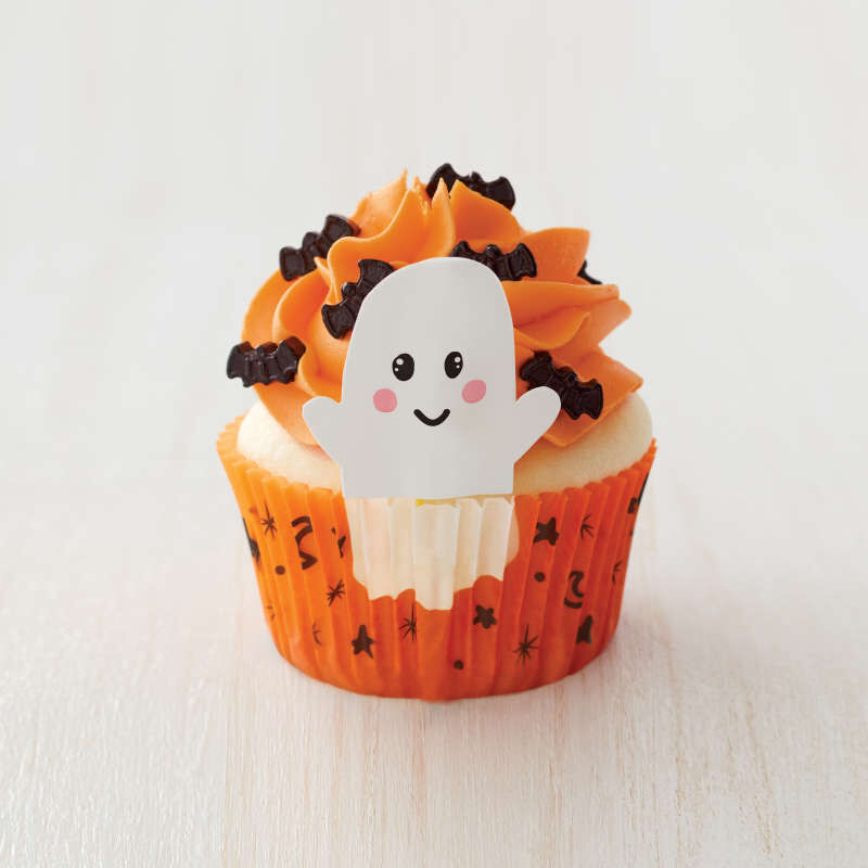 Whimsical Ghost Cupcake Decorating Kit, 24 Sets image number 4