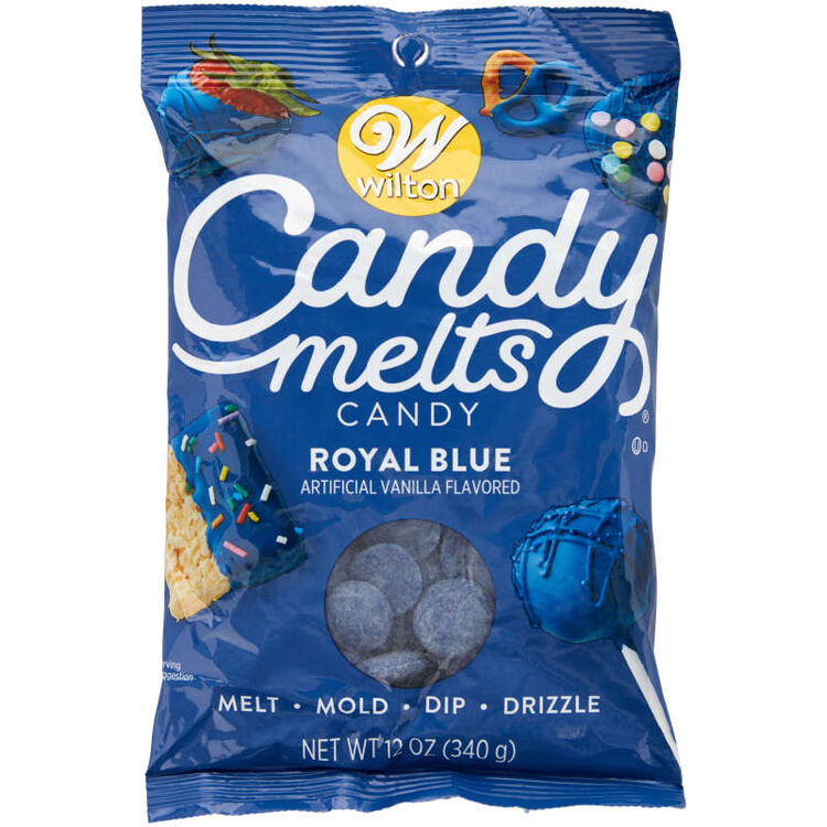 Royal Blue Candy Melts Candy in Packaging