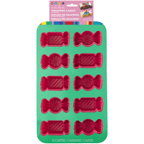 Dylan's Candy Bar Wrapped Candy-Shaped Silicone Mold, 10-Cavity | Wilton
