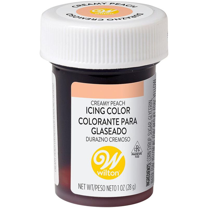 Creamy Peach Gel Food Coloring Icing Color image number 0