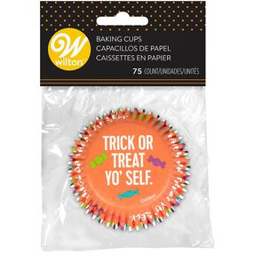 Halloween Assorted Trick or Treat Yo'Self Cupcake Liners, 75-Count