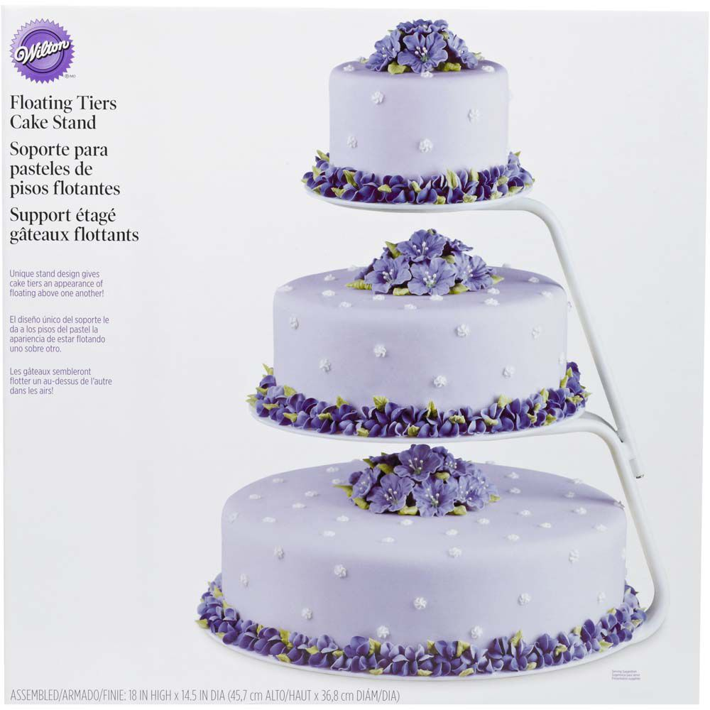 floating wedding cake stand floating tiers cake stand wilton 14322
