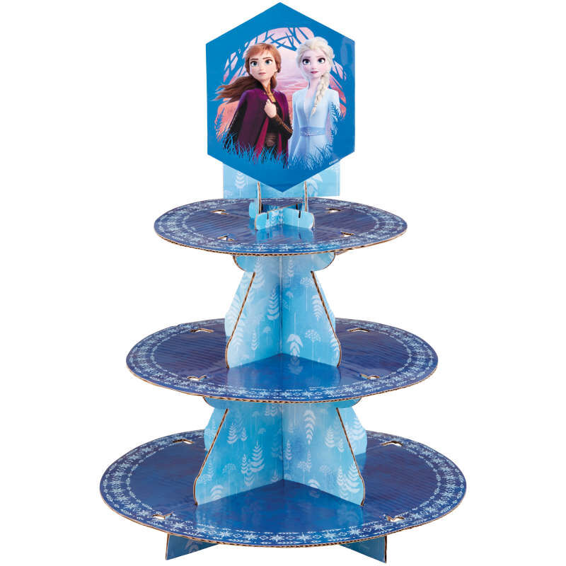 Frozen 2 Cupcake Stand Out of Packaging image number 0