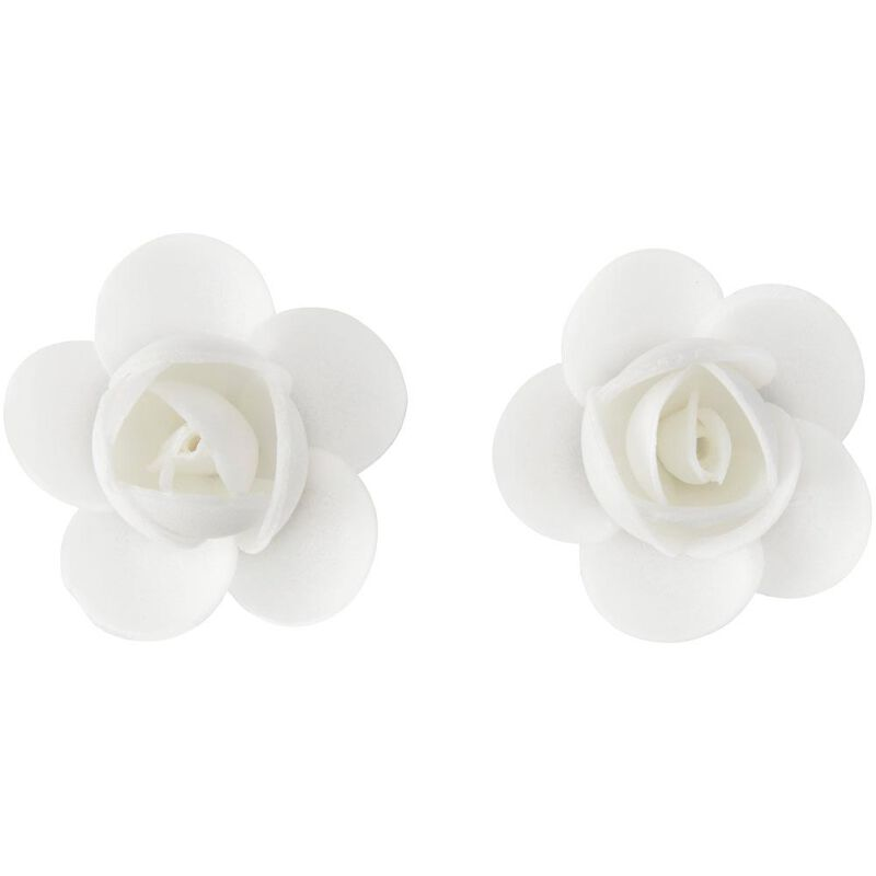White Rose Wafer Decorations, 10-Count image number 3
