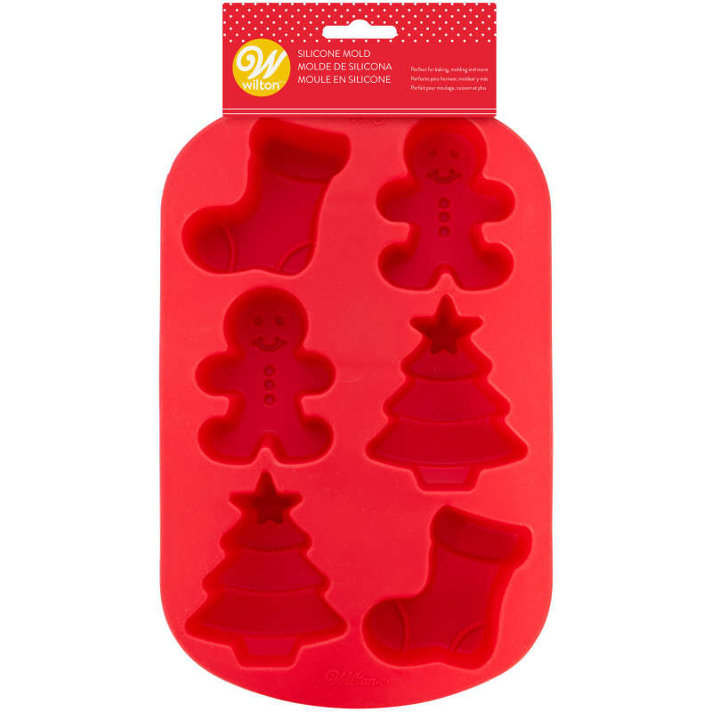 Christmas Shapes Silicone Treat Mold, 6-Cavity image number 3