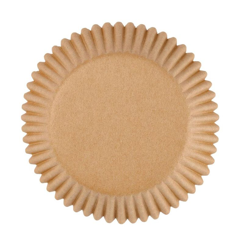 Kraft Paper Cupcake Liners, 75 Count image number 0