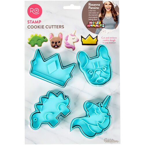 Rosanna Pansino Stamp Cookie Cutters, 4-Count
